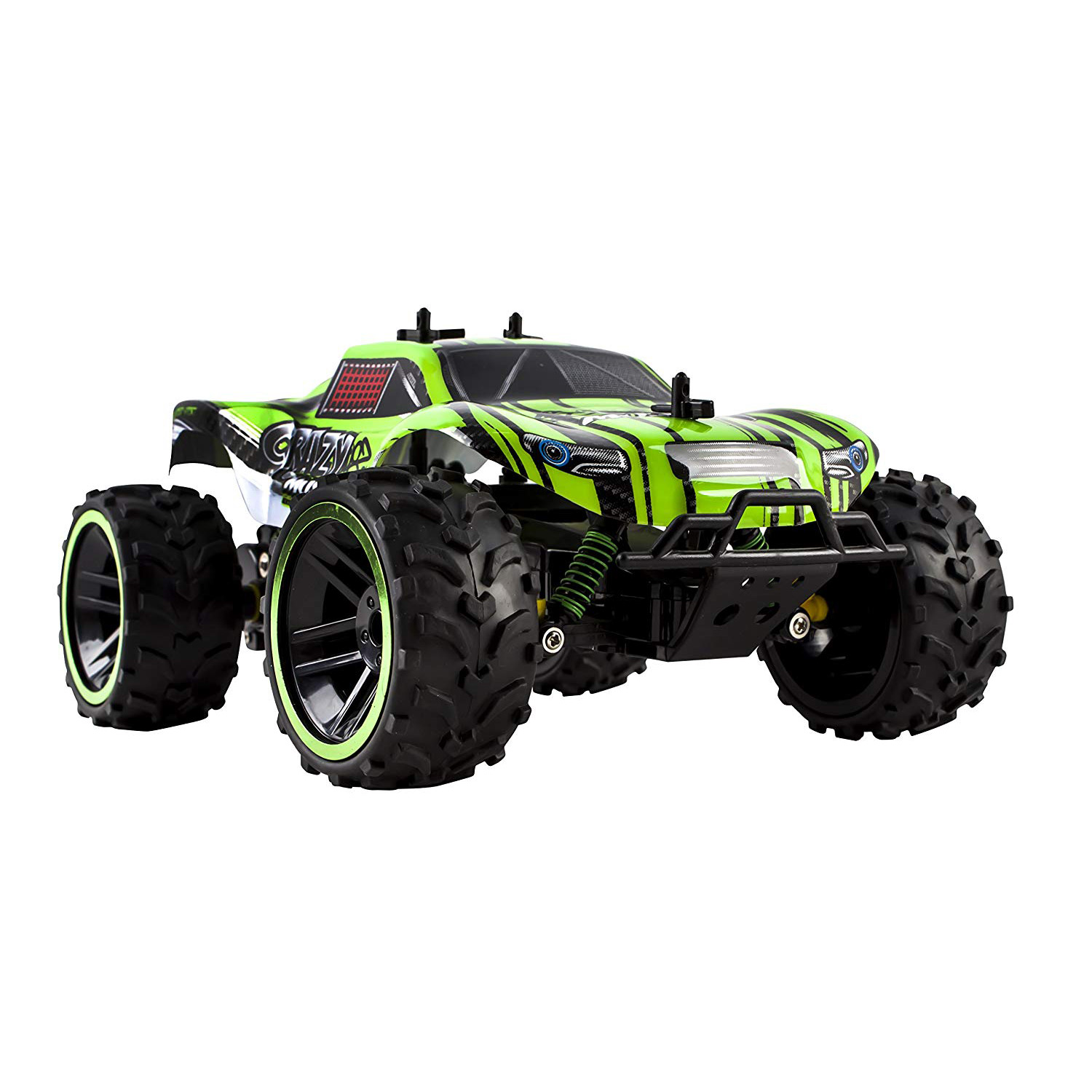 Speed Muscle RC Buggy 2.4Ghz 1:16 Scale Remote Control Truggy Ready to Run With Working Suspension And Spring Shock Absorbers for Indoor Outdoor And Off-Road Use Strong Build Toy (Green)