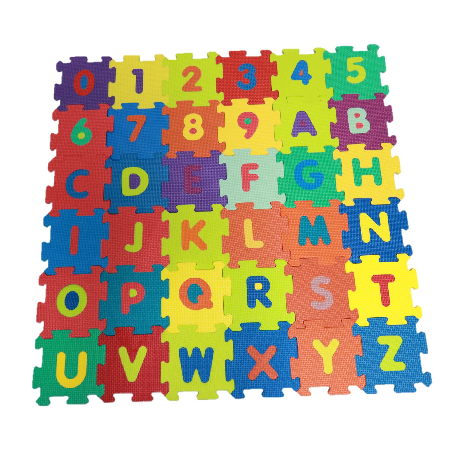 Kids 36 Piece Alphabet And Numeric Foam Tile Play Mat Set With Colors Floor Puzzle Interlocking EVA Playset Children Playroom Toys