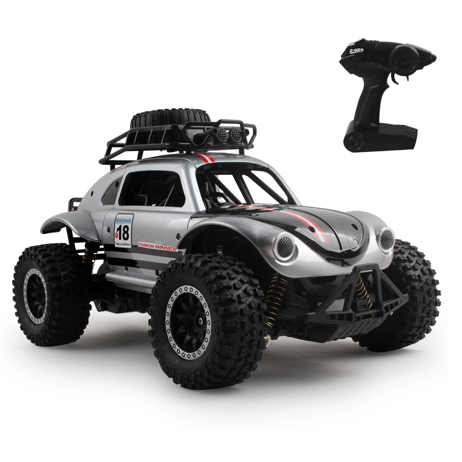 "RC Beetle Truck 23"" 2.4Ghz, 1:14 Scale, High Speed 46km/h Electric Rechargeable Radio Controlled Off-Road Big Wheels Car Children's Bug Remote Control Toy Vehicle Ready To Run RTR Perfect Gift For Kids Toys"