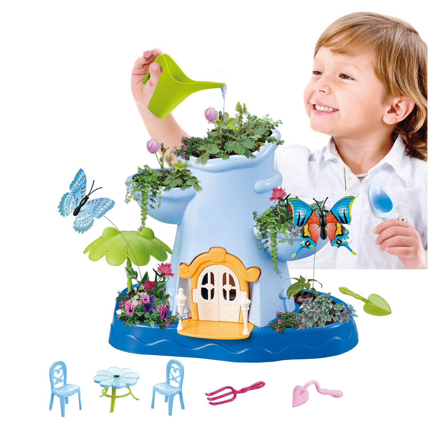 Kids Magical Garden Growing Kit Includes Everything You Need Tools Flower Plant Tree Interactive Play Fairy Toys Inspires Learning Gardening and Horticulture Educational Perfect For Children Girls Boys