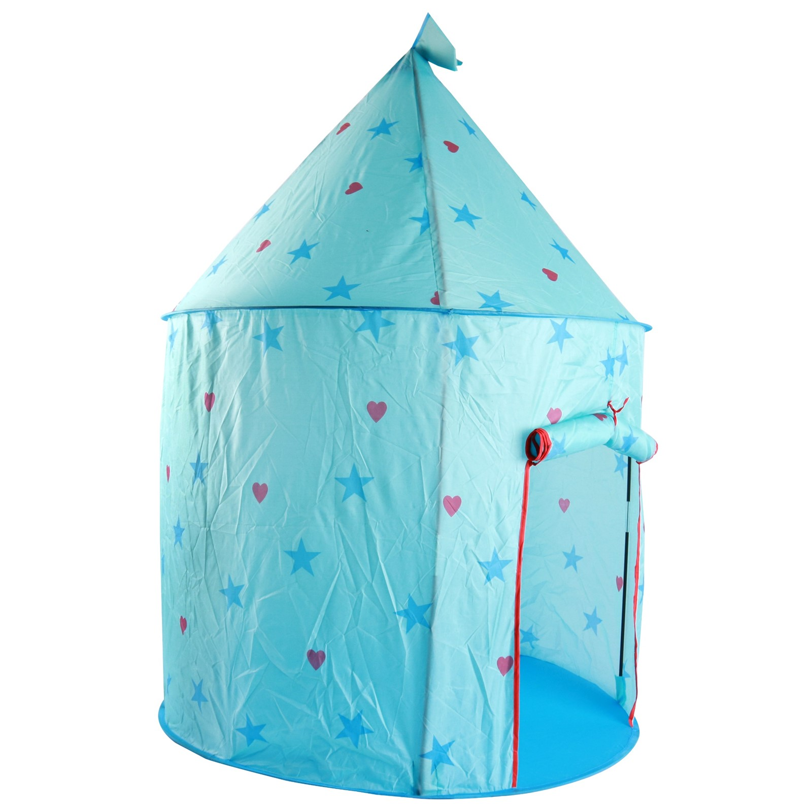 Vokodo Princess Castle Magical Play Tent with Stars Easy Folding Kids Blue Playhouse Boosts Imagination and Creativity Indoor Outdoor Adventure Toy House for Children Boys Girls Toddlers