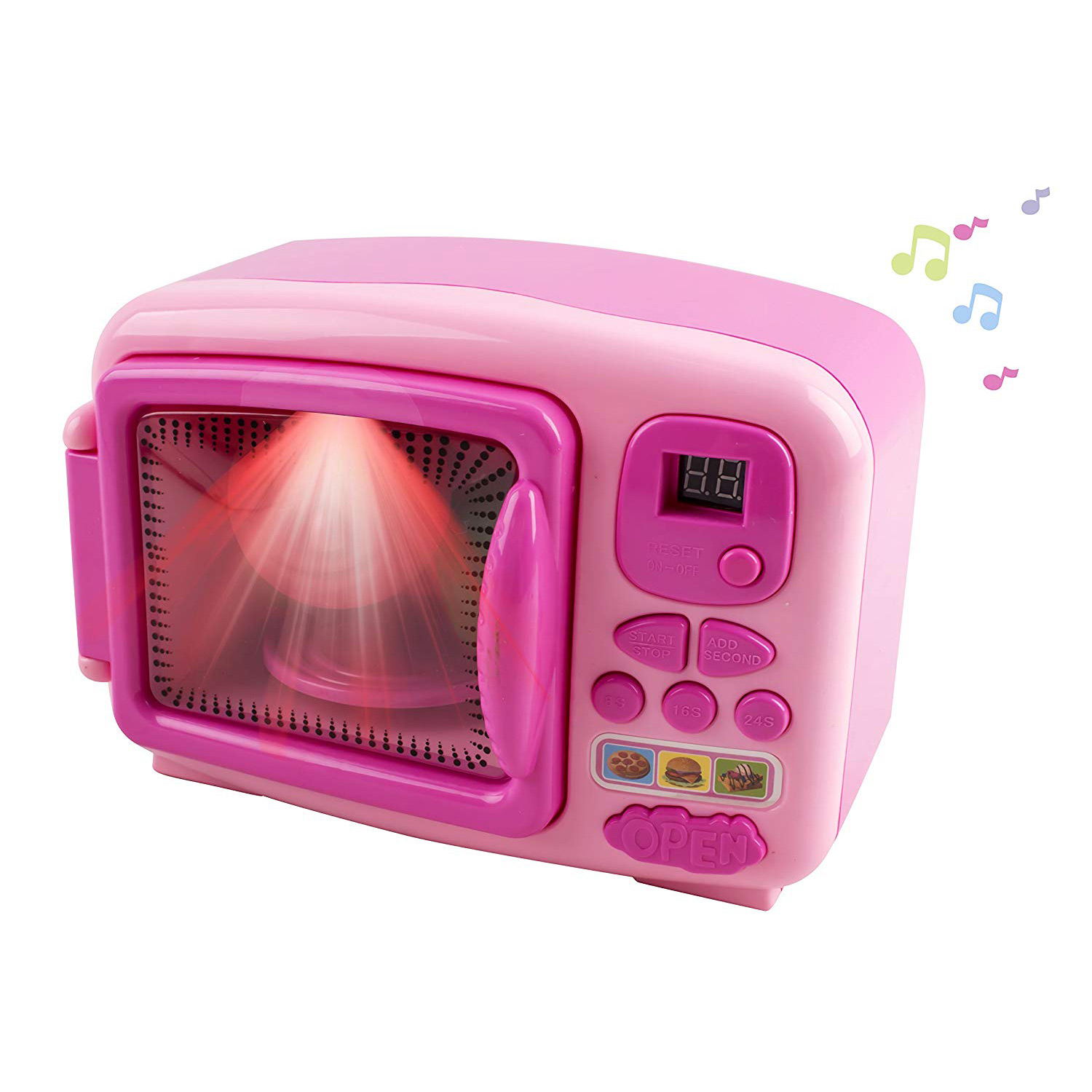 Toy Microwave and Mixing Blender Children's Kitchen Pretend Play Set