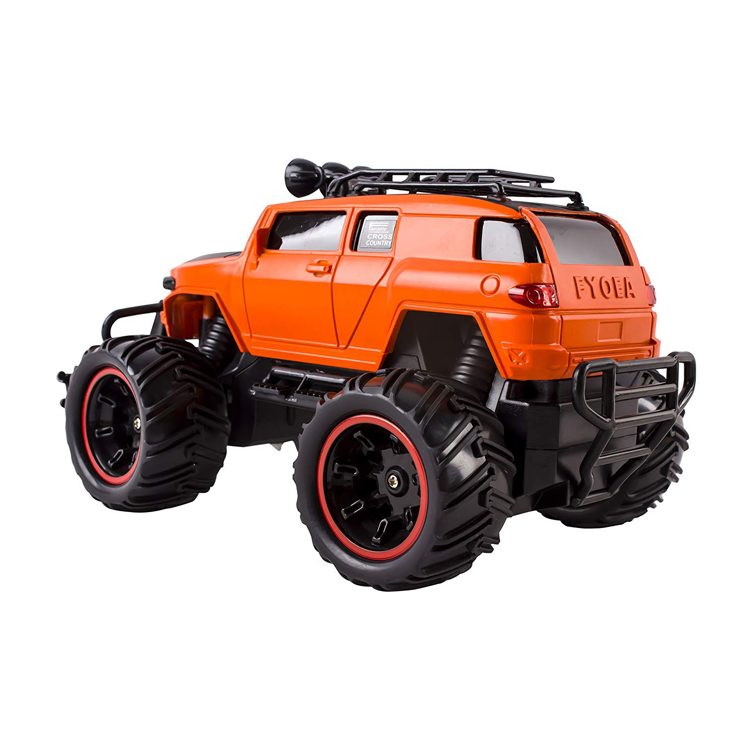 RC Monster Truck Toy Remote Control RTR Electric Vehicle Off Road High Speed Race Car 120 Scale Radio Controlled Orange Color