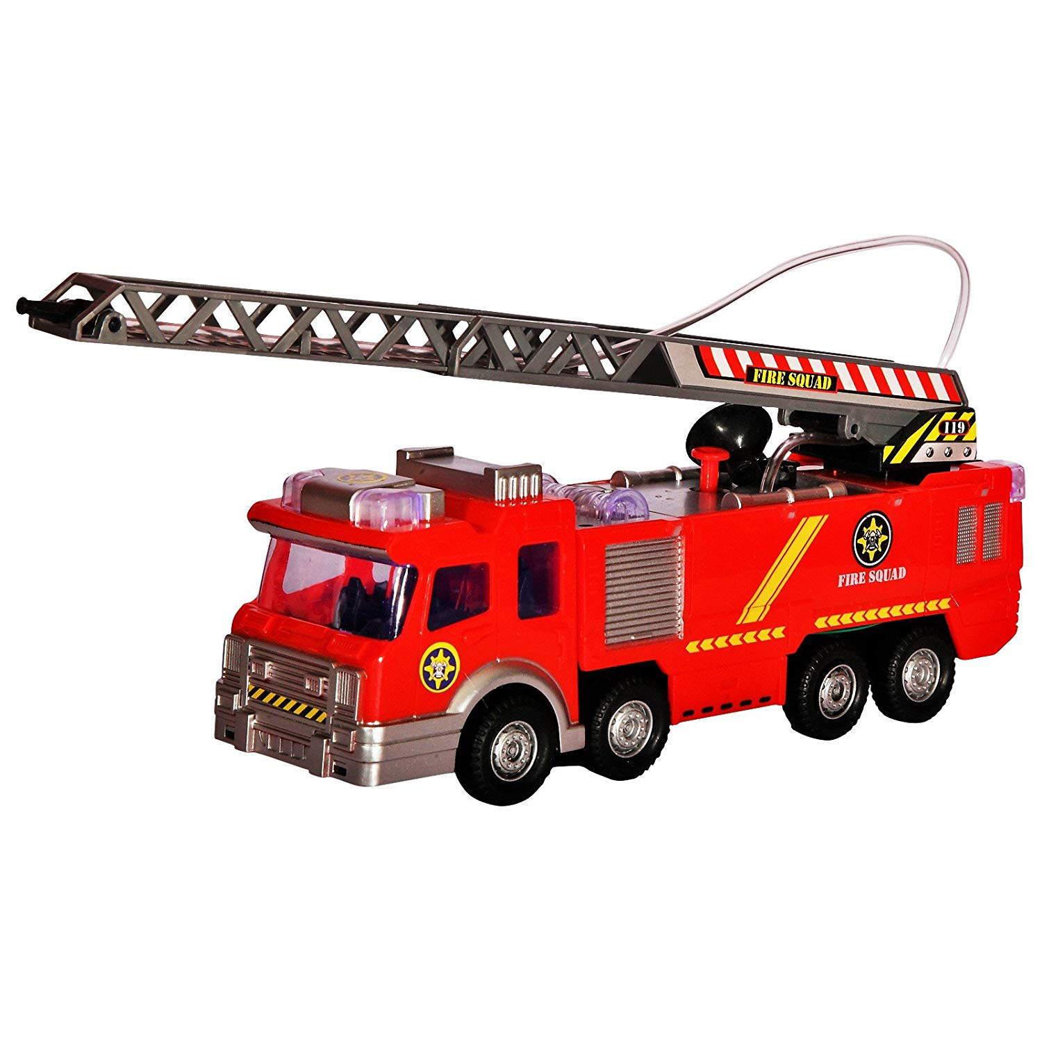 Fire Truck Toy Rescue With Shooting Water Flashing Lights And Siren