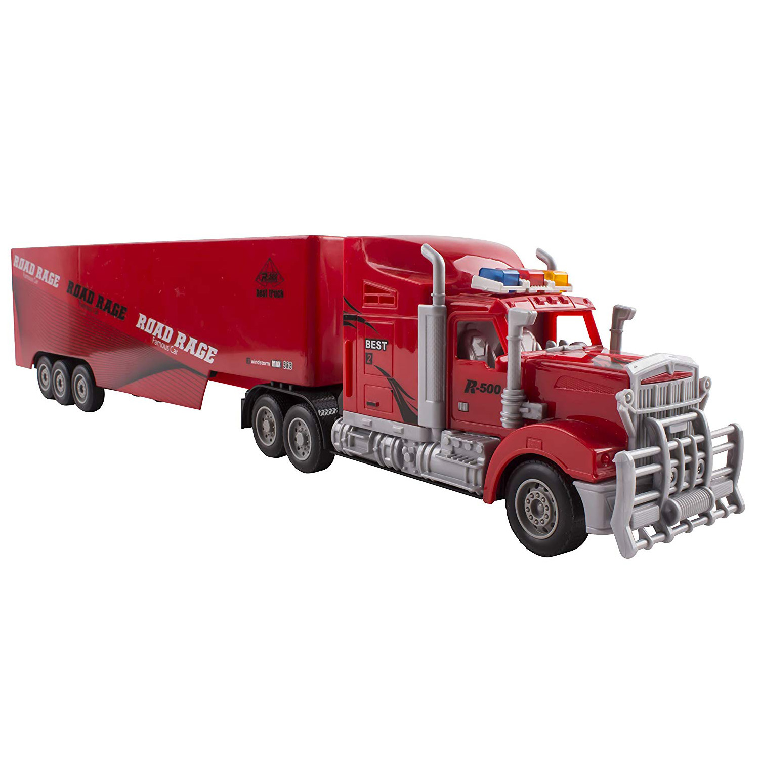 Toy Semi Truck Trailer 23 Electric Hauler Remote Control Rc Children S Transporter Ready To Run Full Cargo Perfect Big Rig For Kids Toys Red Toyz X Online Toy Store Affordable Toys