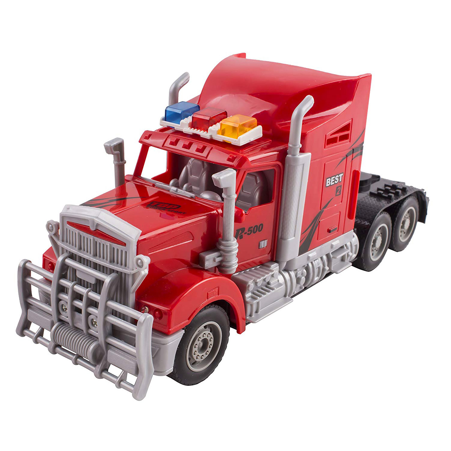Toy Semi Truck Trailer 23 Electric Hauler Remote Control RC Childrens Transporter Ready To Run Full Cargo Perfect Big Rig For Kids Toys Red
