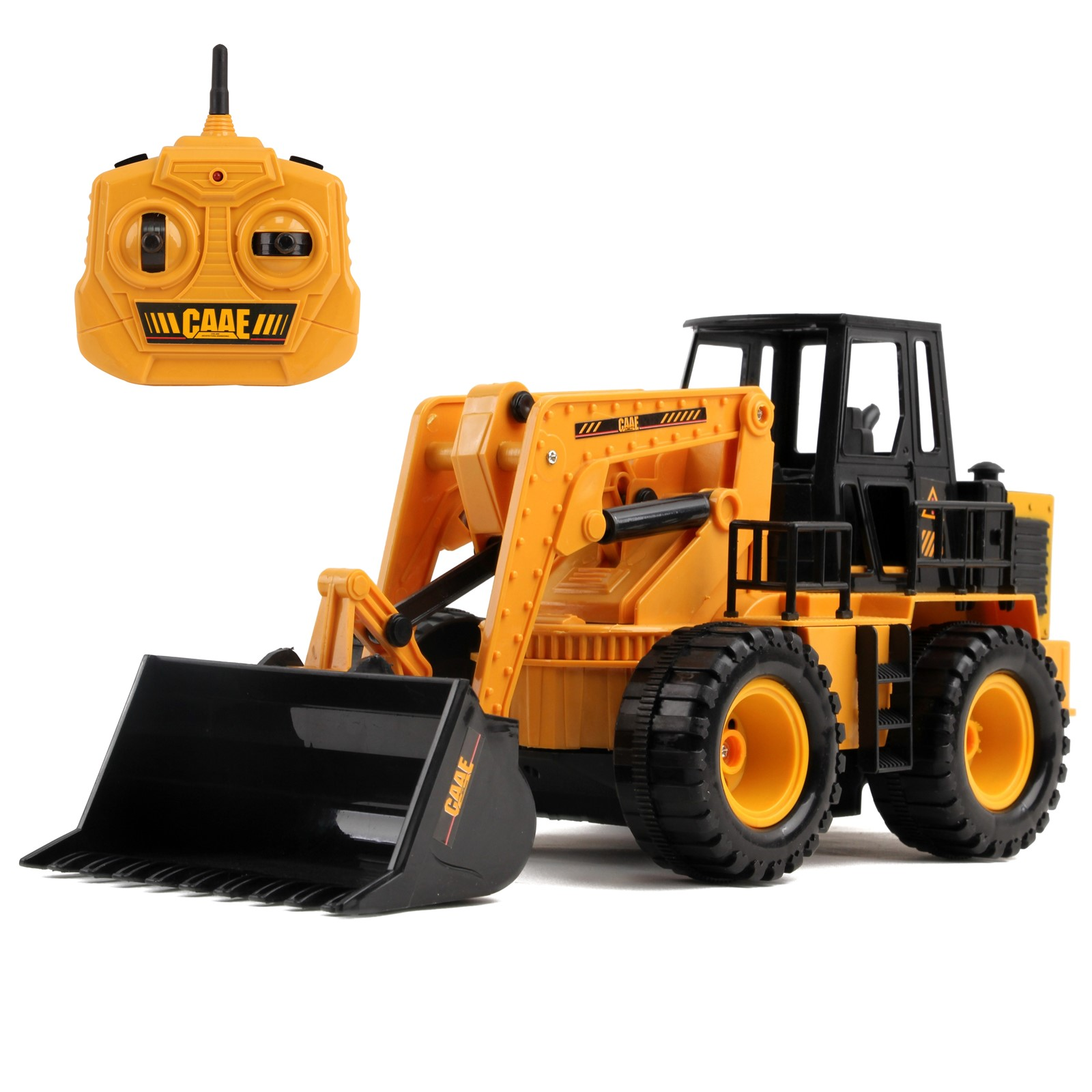 Full Functional RC Bulldozer 1:24 Scale 2.4Ghz Construction Toy Tractor Truck Electric Remote Control Radio Digger Car Ready To Run RTR Perfect Vehicle Gift For Kids