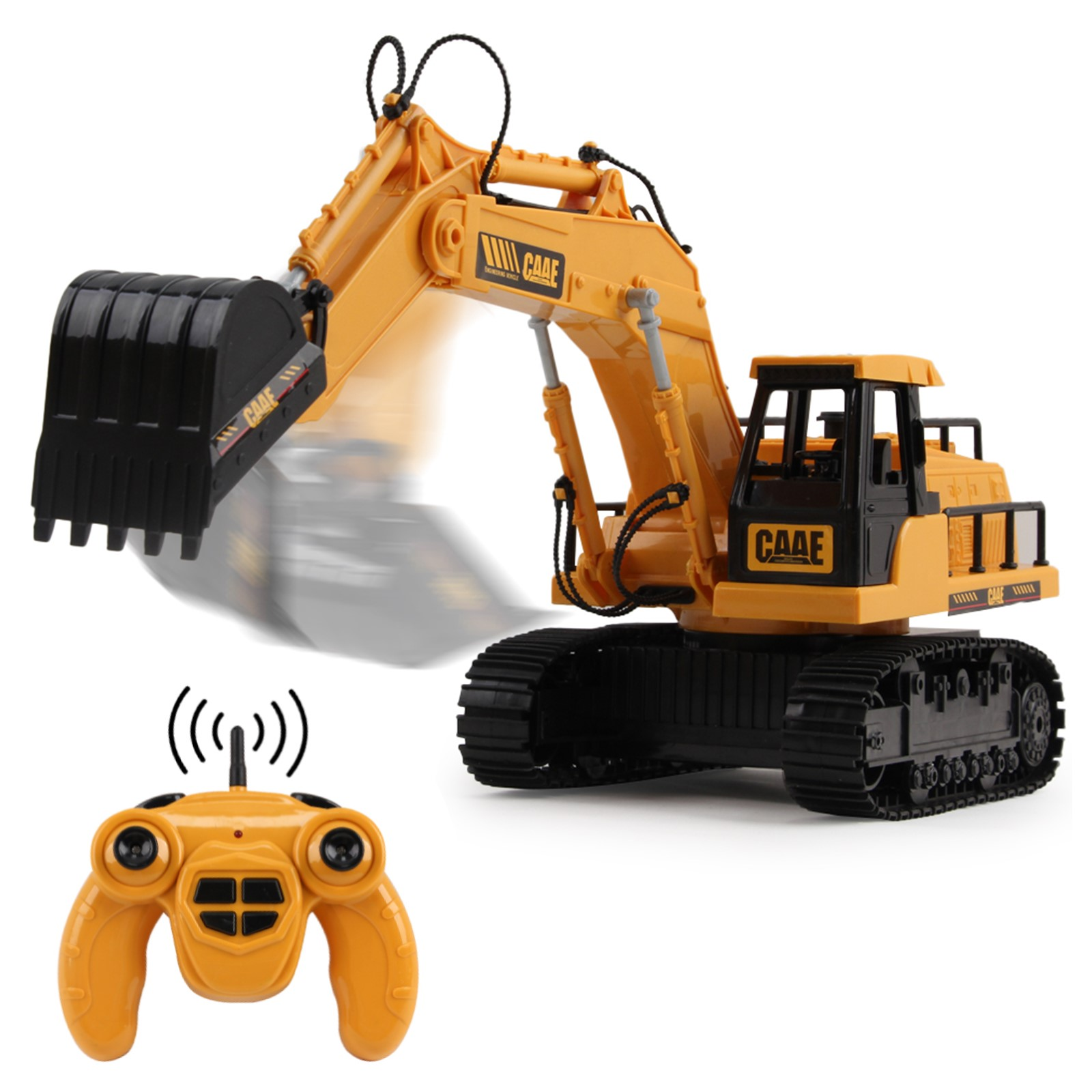 Full Functional RC Excavator 1:22 Scale 2.4Ghz Construction Toy Tractor Truck Electric Remote Control Radio Digger Car Ready To Run RTR Perfect Vehicle Gift For Kids