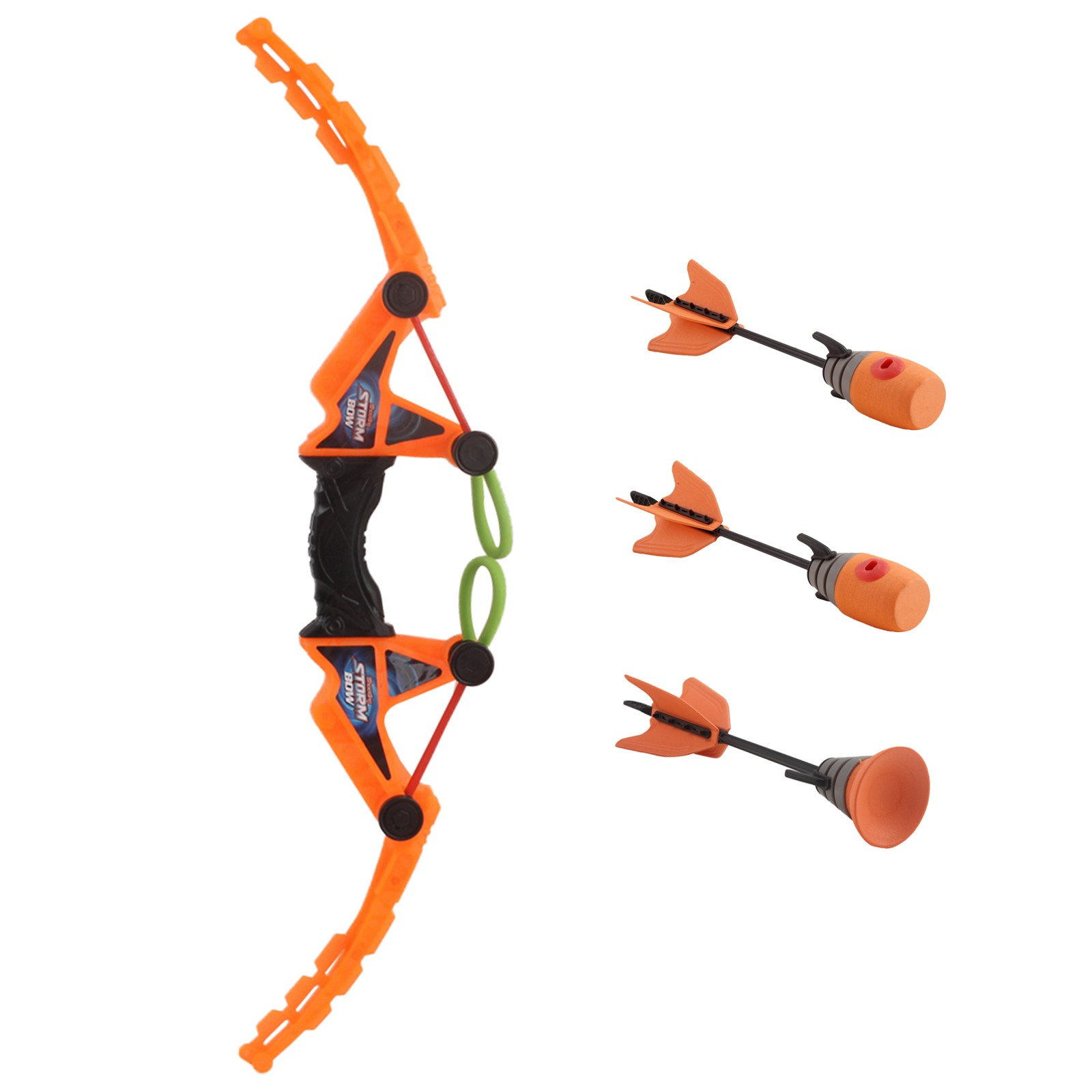 Storm Bow Fast Load With Suction Cup And Whistle Arrows Archery Activity Air Action Fun Outdoor Sports Shooting Games Orange Color