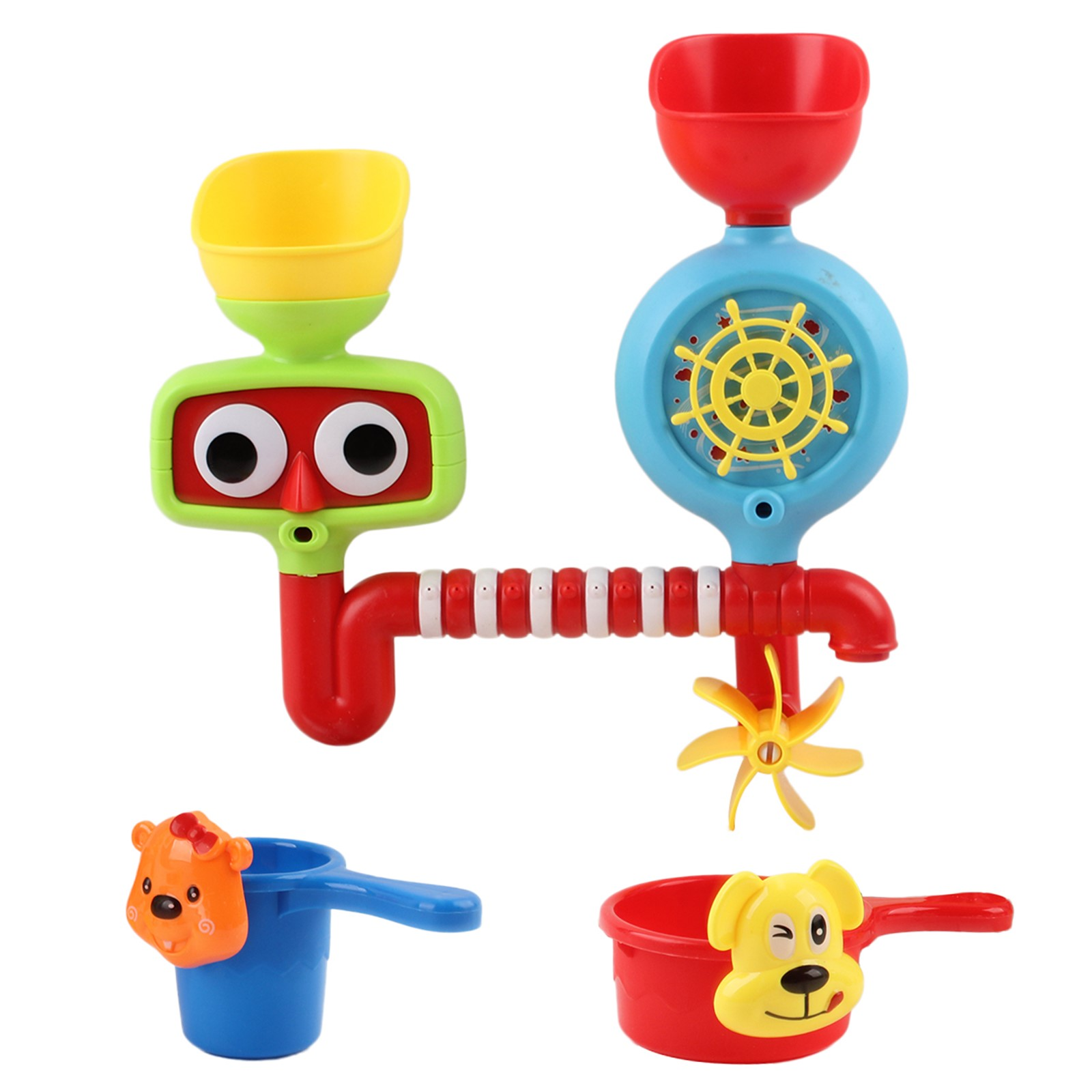 Bath Toy Set For Toddlers Baby And Young Children Perfect For Bathtub Or Beach Day Water Fun Educational Functional Interactive Kids Play Toys Boosts Imagination And Creativity