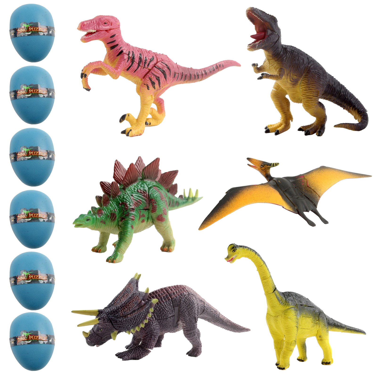 Dinosaur Egg Set With 6 Unique Species Kids Archaeology 3D Puzzle Take Apart Playset Discover Fossil Animals Science STEM Educational Dig Up Easter Party Toys Great Gift For Children Boys Girls