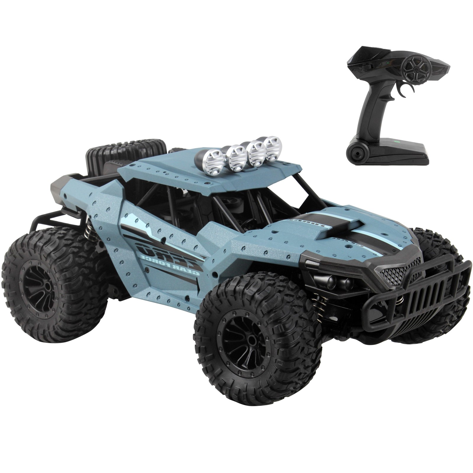 Vokodo RC Race Truck 12.6 1:16 Scale 2.4Ghz Electric High Speed Motor 20km/h Rechargeable Radio Remote Control Kids Off-Road Big Tire Car Ready To Run RTR Toy Vehicle Great Gift For Children Boy Girl